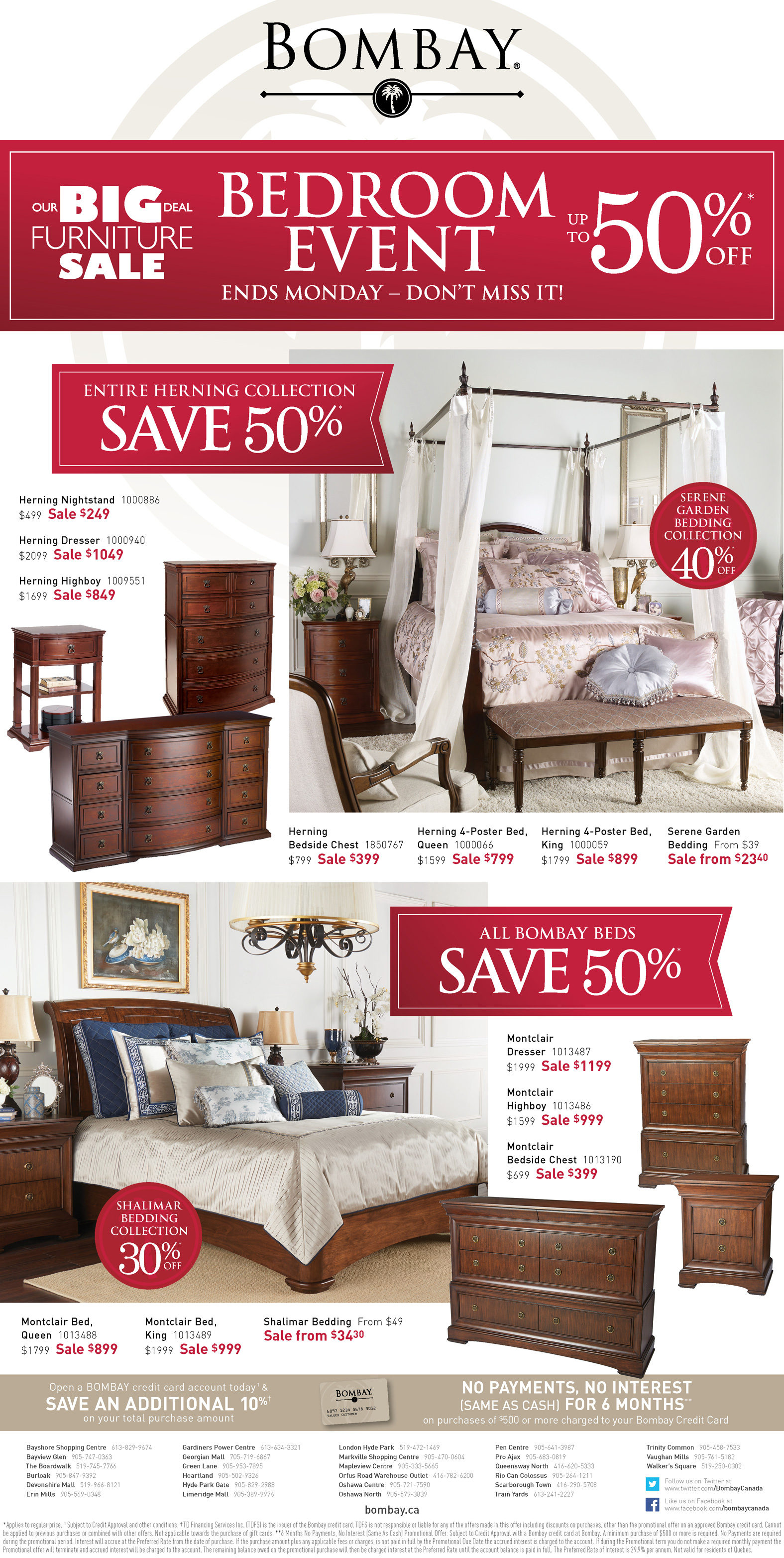 Bombay Weekly Flyer - Our Big Deal Furniture Sale - Bedroom Event ...