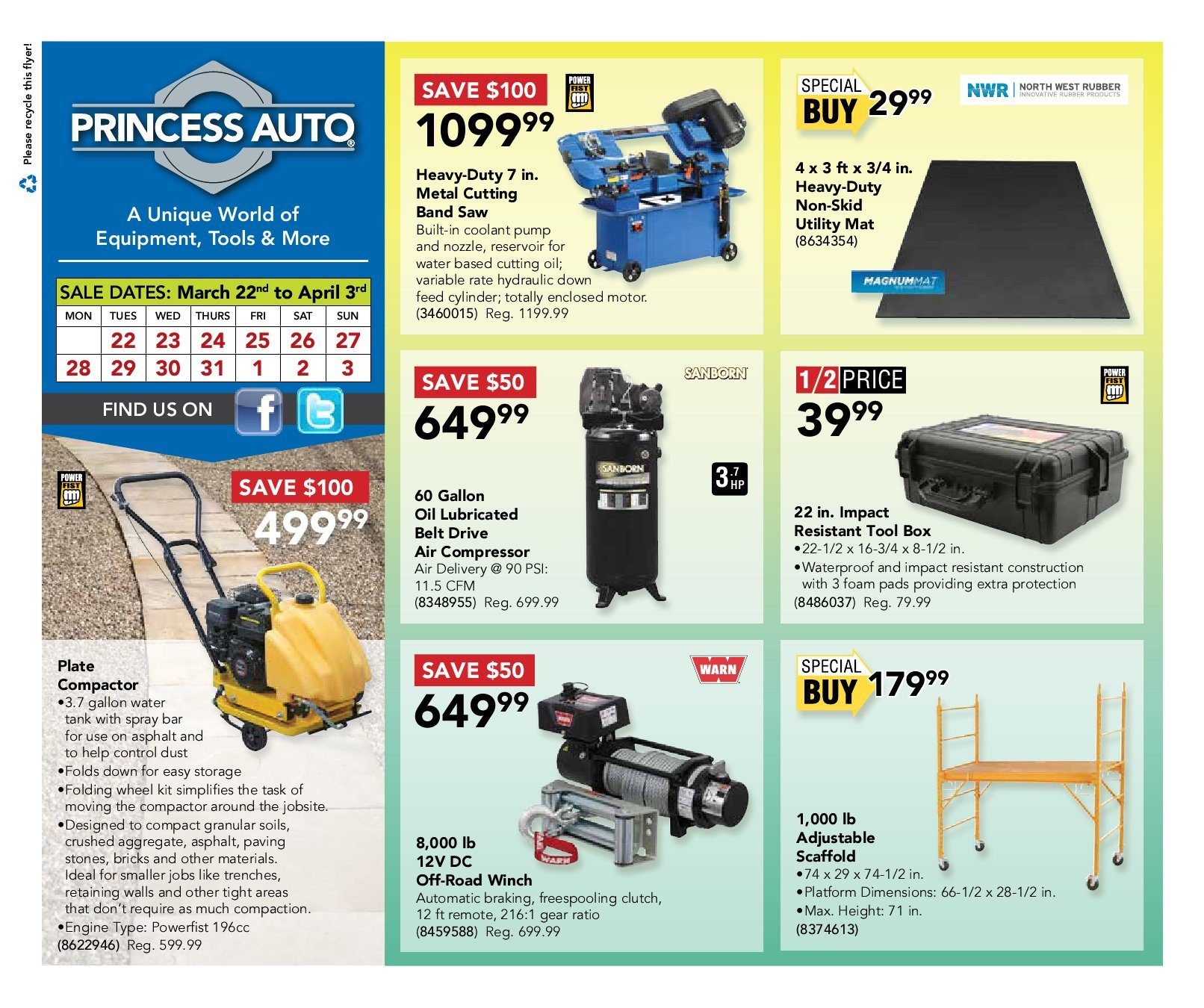 Princess Auto Weekly Flyer Gear Up for Spring Mar 22 – Apr 3