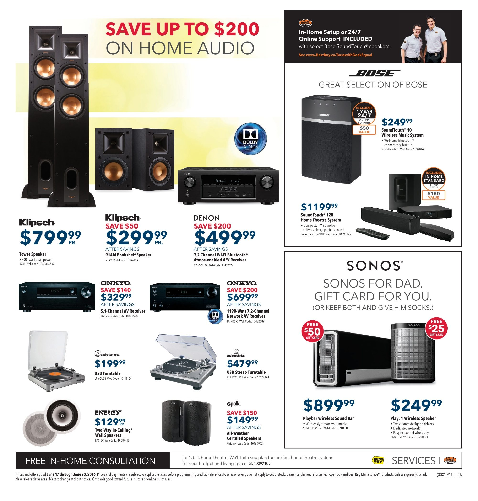 Best Buy Weekly Flyer Summer Sale Jun 17 23 Powerline Carrier System Transmitter For Audio Music Speech