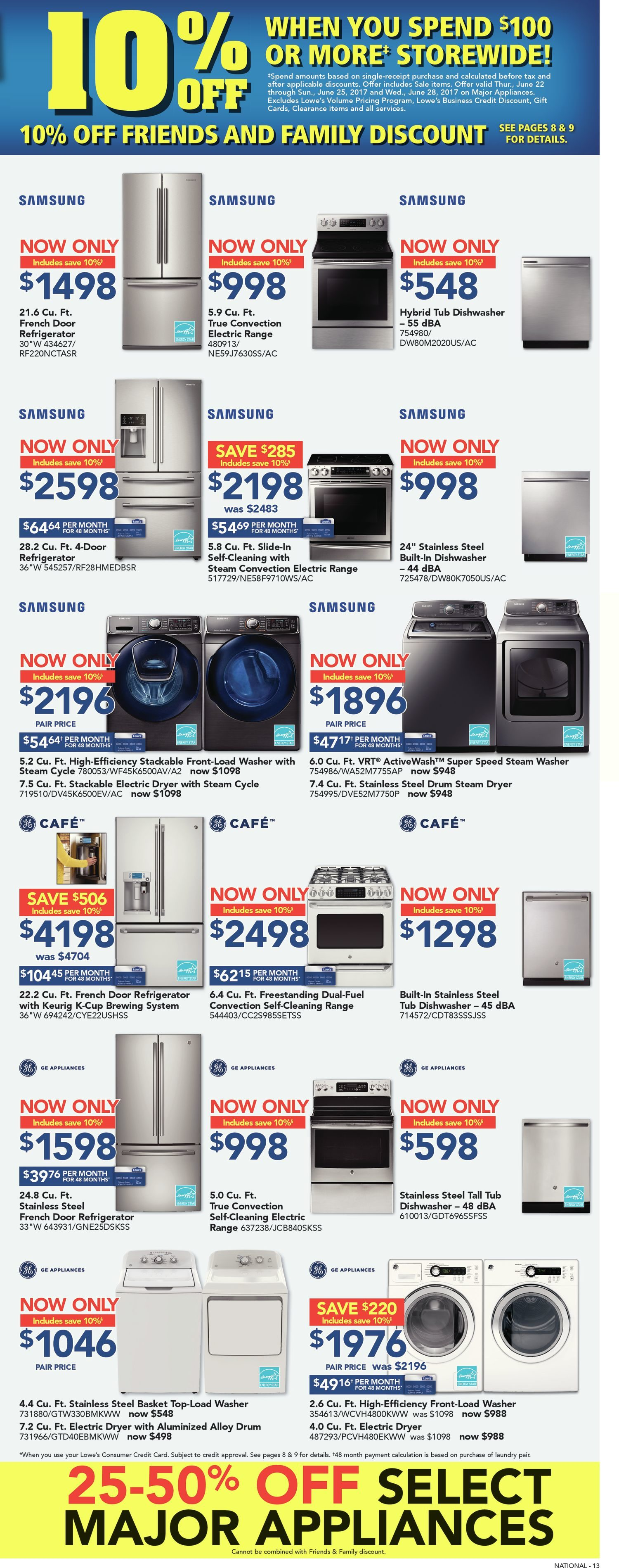 Lowes Weekly Flyer Friends Family Event Jun 22 28 3976 Fuel Filter