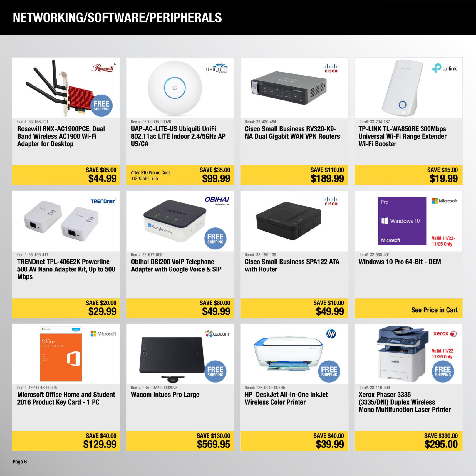 Newegg Weekly Flyer Black Friday Deals Nov 20 25 Phone Jack Wiring Question For Voip Redflagdealscom Forums