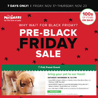 PetSmart - Pre-Black Friday Sale Flyer