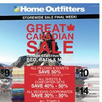 Home Outfitters - Storewide Sale Final Week! - Great Canadian Sale Flyer