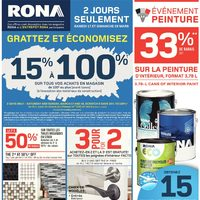 Rona - Weekly - Paint Event Flyer