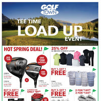 Golf Town - Tee Time Load Up Event Flyer