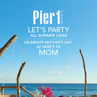 Pier1 Import - Monthly Book - Let's Party All Summer Long Flyer