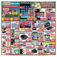 Factory Direct - Weekly - A+ Back To School Deals! Flyer