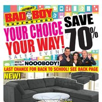 Bad Boy Furniture - Your Choice, Your Way! Sales Event Flyer