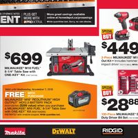 Home Depot - Pro Savings Event Flyer
