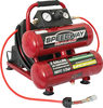 Speedway 2 Gallon Twin Stack Air Compressor With 25 Ft Auto-Rewind Hose