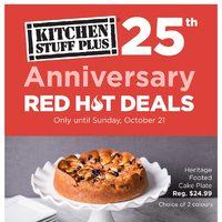 anniversary red hot deals valid mon oct 15 sun oct 21 - Kitchen Stuff Plus
