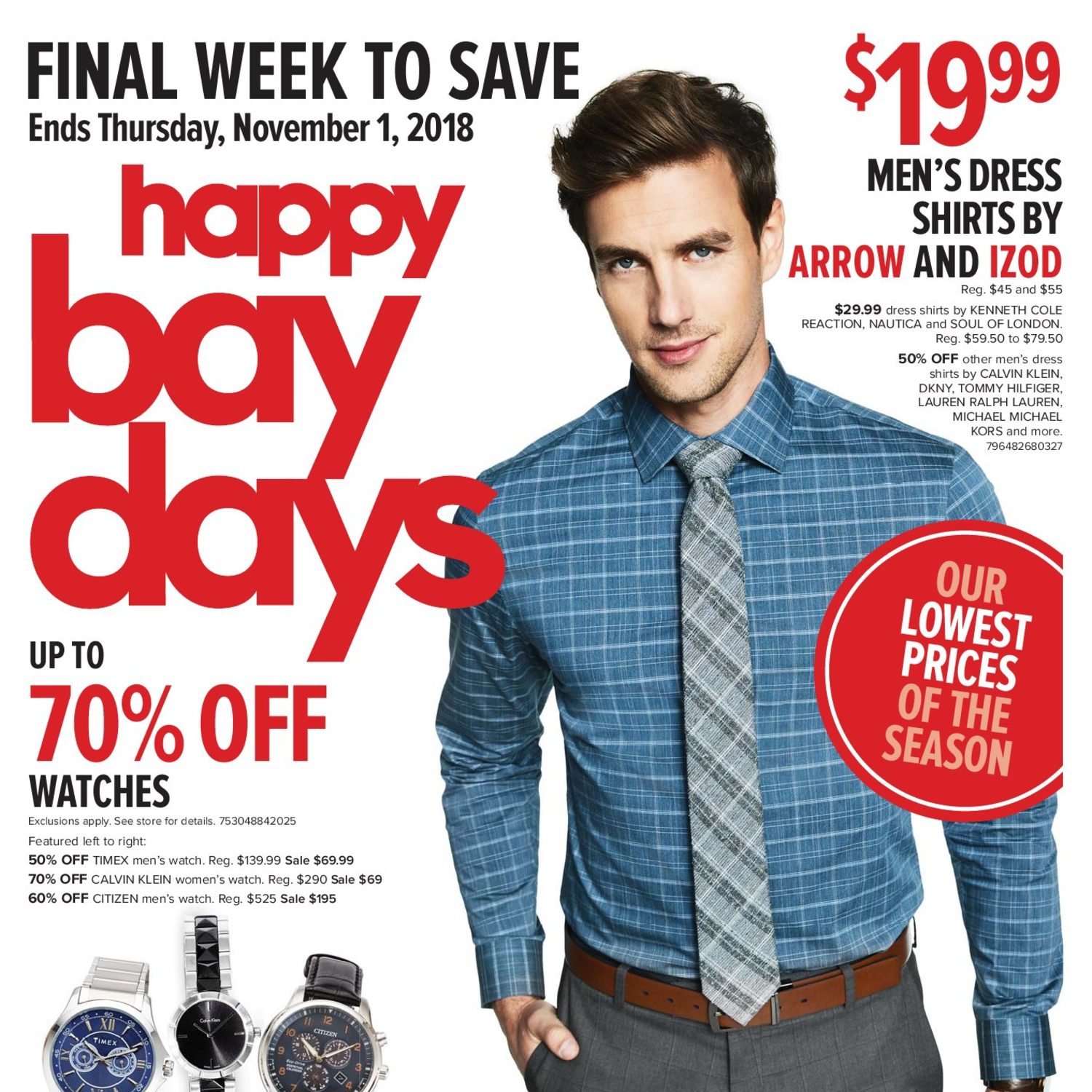 45838848 The Bay Weekly Flyer - Final Week To Save - Happy Bay Days - Oct 26 – Nov 1  - RedFlagDeals.com