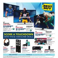 Best Buy - Weekly - Score a Touchdown Flyer