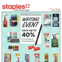 Staples - 2 Weeks of Savings - Writing Event Flyer