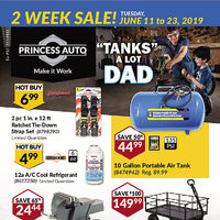 Princess Auto - 2 Week Sale! - Tanks A Lot Dad Flyer