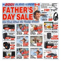 2001 Audio Video - Weekly - Father's Day Sale Flyer