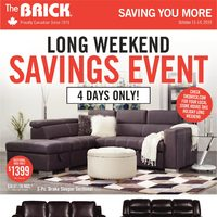- Saving You More - Long Weekend Savings Event Flyer