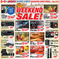 2001 Audio Video - Weekly - Thanksgiving Weekend Sale! Flyer