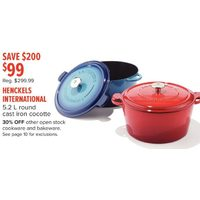 Henckels International 5.2 L Round Cast Iron Cocotte