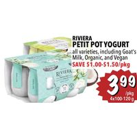 Riviera Petit Pot Yogurt Including Goat's Milk, Organic, and Vegan