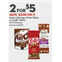 Nestle Cello Bags, Kit Kat Tablets Or L'atalier Tablets