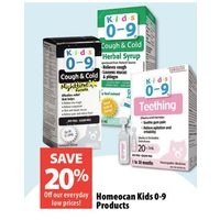 Homeocan Kids 0-9 Products