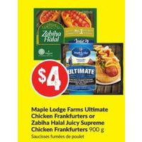 Maple Lodge Farms Ultimate Chicken Frankfurters Or Zabiha Halal Juicy Supreme Chicken Frankfurters