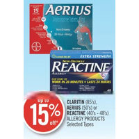 Claritin, Aerius Or Reactine Allergy Products