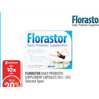 Florastor Daily Probiotic Supplement Capsules