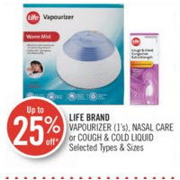 Life Brand Vapourizer, Nasal Care Or Cough & Cold Liquid