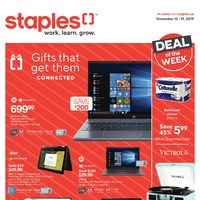 Staples - Weekly - Gifts That Get Them Connected Flyer