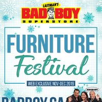 Bad Boy Furniture - Furniture Festival Flyer