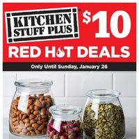 Kitchen Stuff Plus - Red Hot $10 Deals Flyer