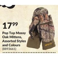 Pop Top Mossy Oak Mittens