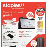 Staples - Weekly - Business Travel Goals Flyer