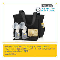 Pump in Style Breastpump Slouch Bag With BPA-Free Bottles
