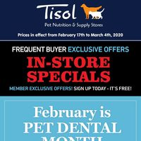 Pet Valu - Tisol - Frequent Buyer Exclusive Offers Flyer