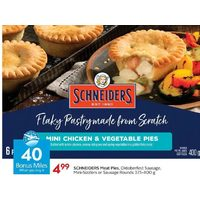 Schneiders Meat Pies, Oktoberfest Sausage, Mini-Sizzlers Or Sausage Rounds
