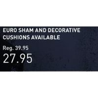 Mr & Mrs Bedding Collection - Euro Sham and Decorative Cushions