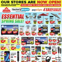 Factory Direct - Essential Spring Sale Flyer