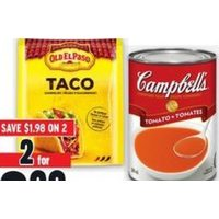 Campbell's Soup or Old El Paso Seasoning