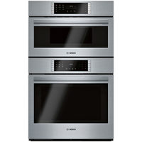 "Bosch 30"" 4.6 Cu. Ft. Convection Electric Combination Wall Oven"
