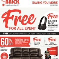The Brick - Saving You More - Free Offer Frenzy Event Flyer