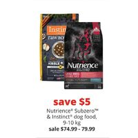 Nutrience Subzero & Instinct Dog Food