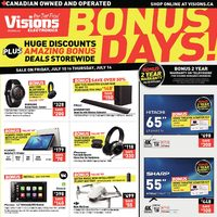 Visions Electronics - Weekly - Bonus Days! Flyer