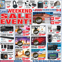 2001 Audio Video - Long Weekend Sale Event! Flyer