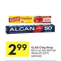 Glad Cling Wrap Or Alcan Foil Wrap