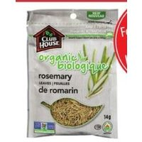 Club House Spices Organic Rosemary Leaves