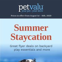 Pet Valu - Summer Staycation Flyer