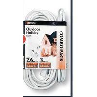 Woods Outdoor Extension Cord Combo - White